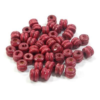 나무비즈/바퀴(6mm)빨강/비즈공예재료