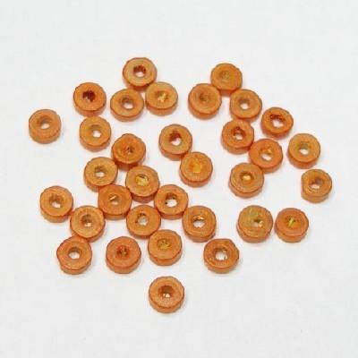 나무비즈/도너츠(5mm)주황/비즈공예재료