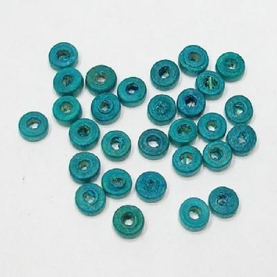나무비즈/도너츠(5mm)파랑/비즈공예재료