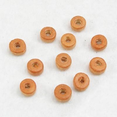 나무비즈/도너츠(6mm)연주황/비즈공예재료