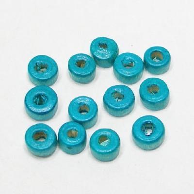 나무비즈/도너츠(6mm)파랑/비즈공예재료