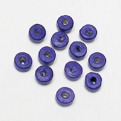 나무비즈/도너츠(6mm)보라/비즈공예재료
