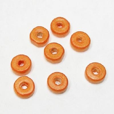 나무비즈/도너츠(8mm)주황/비즈공예재료