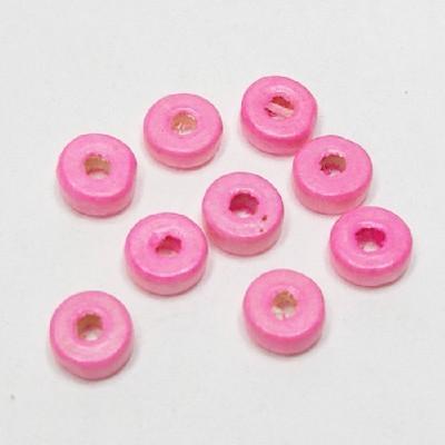 나무비즈/도너츠(8mm)연분홍/비즈공예재료