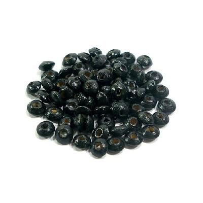 나무비즈/주판알(6mm)검정/비즈공예재료