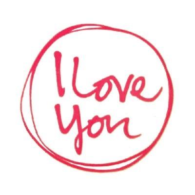 투명스티커/I LOVE YOU