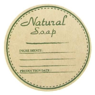 크라프트지스티커/soap(원형메모)