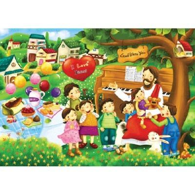직소퍼즐(150p)/예수님 사랑/학습교구,퍼즐 >직소퍼즐