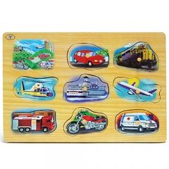 사운드 원목퍼즐(교통수단)/학습교구,퍼즐>유아학습퍼즐
