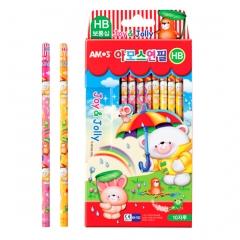 아모스 캐릭터연필(HB)보통심/학생문구용품/필기구