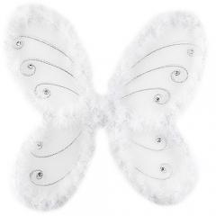 나비날개 화이트(46x42cm)/파티,공연용품