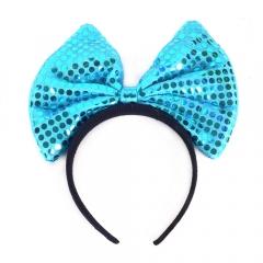 왕리본머리띠[중]블루/행사,파티용품