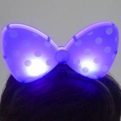 라이트 리본머리띠(파랑)/행사,파티용품