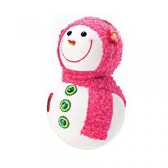 눈사람인형 32Cm 핑크/크리스마스 장식소품