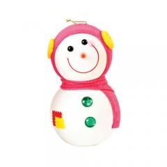 눈사람인형 16Cm 핑크/크리스마스 장식소품