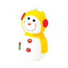 눈사람인형 16Cm 옐로우/크리스마스 장식소품