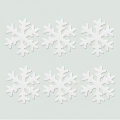젤리설정스티커 7Cm (화이트)/6개세트/크리스마스소품,스티커