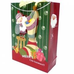 크리스마스 종이가방(32cm)/10개/크리스마스소품,스티커