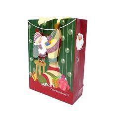 크리스마스 종이가방(27cm)/10개/크리스마스소품,스티커