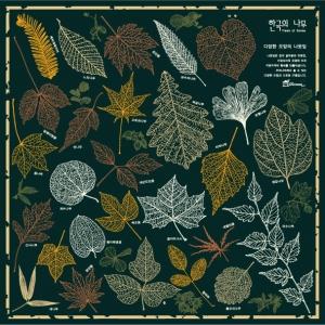 나뭇잎 손수건