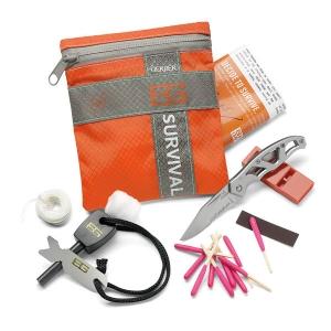 [거버] 베어그릴스 서바이벌 베이직 킷-나이프/성냥/호루라기/파이어스타터 Bear Grylls Basic Survival Kit