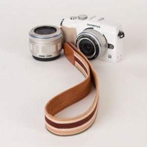 [아이코드] 카메라스트랩 퍼브릭30 리플스트라이프 브라운 C110310