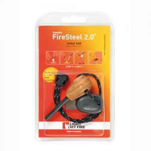 [라이트마이파이어] 스웨덴 불꽃점화금속 FireSteel 2.0 Scout형-오크나무 파이어스타터