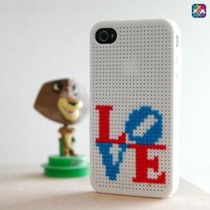 [테일러] x-stitch iPhone4 항균 실리콘 십자수케이스 아이폰케이스