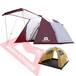 [마운틴이큅먼트] 파운틴 돔 4인용 텐트 카키/화이트