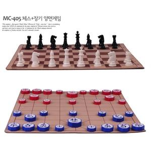 [명인랜드] 중형 체스+장기 자석식 천보드 양면게임 (가방포함 MC405)