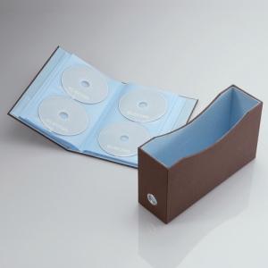 [엘레컴] CCD-034BE/BK/BR 최고급 책꽂이형 CD/DVD 72장들이 케이스