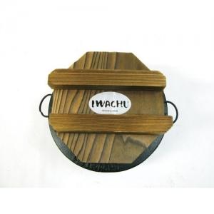 [이와츄] 무쇠 밥솥 (12.5㎝ × H7.5㎝ 1인 솥 나무 뚜껑) 라이스쿠커 / 워머