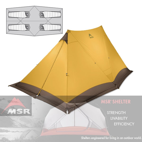 [엠에스알MSR] 트윈 브라더스 V2 Twin Brothers™ expedition shelter