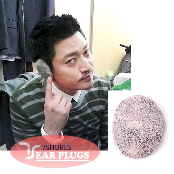[이어플러그] [인조스웨이드] 뱀피 라이트그레이 귀마개 / EPLP-002 성인용