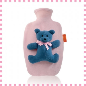 [파쉬 fashy] 핫팩 보온물주머니/1.4리터 곰인형-핑크