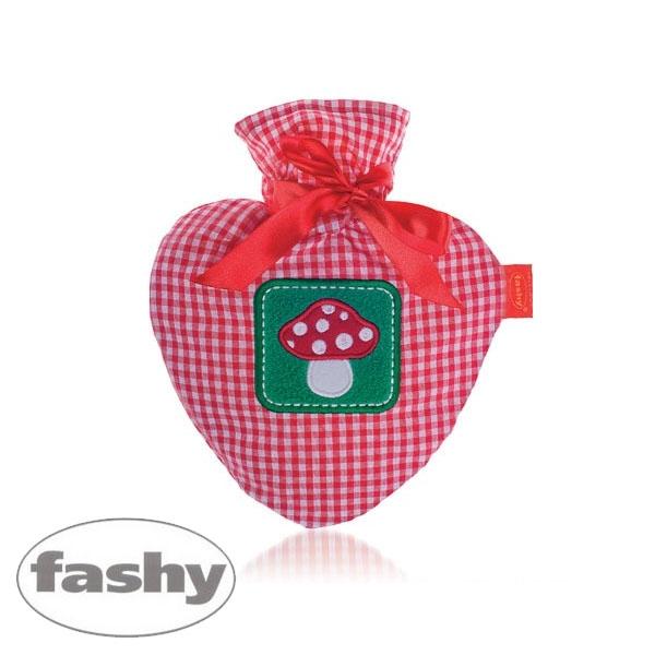 [파쉬 fashy] 버섯아폴리케 체크커버 0.7리터-하트형/핫팩/찜질팩