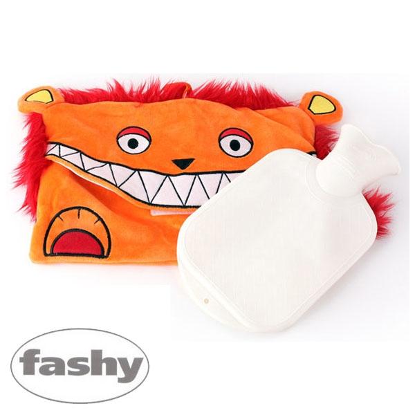[파쉬 fashy] 보온물주머니 캐릭터형-개구쟁이사자커버 0.8L 핫팩/핫팩인형/찜질팩