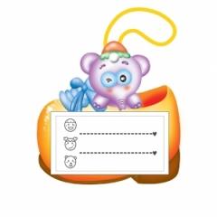 끼움식목걸이명찰/코끼리(10개)/학원,유치원용품