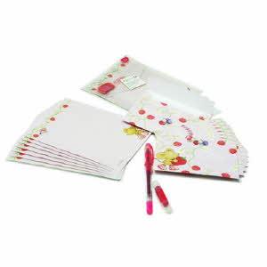 딸기 편지세트