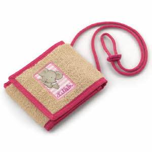 목걸이형 지갑- pink/beige/denim