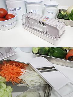 pure white 컴팩트 슬라이서 (4종채칼+안전핸들+케이스)