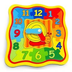 원목칼라 시계퍼즐/학습교구,퍼즐>유아학습퍼즐