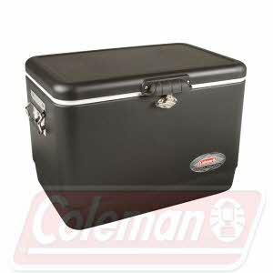 [콜맨] 54QT Steel Belt Cooler(54쿼트 스틸 벨트 쿨러) 블랙/그린/스테인레스