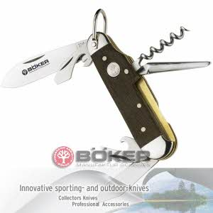[보커] 나이프 쉬포르트 메서 아이허 Pocket knife / Boker Camp Knife smoked oak