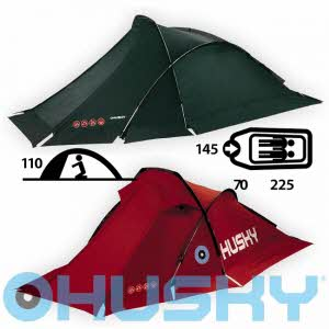 [허스키 HUSKY] Flame 2인용 Tent Extreme - FLAME 2 prs - Green/Red