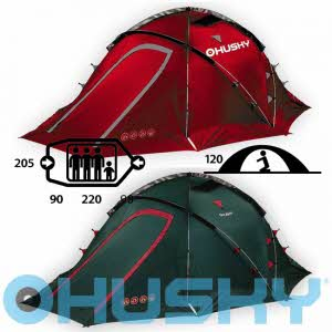 [허스키 HUSKY] Fighter 3-4인용 Tent Extreme - FIGHTER 3-4 prs Green/Red