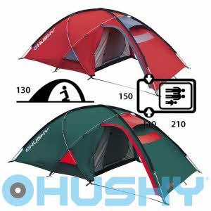 [허스키 HUSKY] Felen 2-3인용 Tent Extreme - Felen 2-3 Green/Red