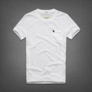 Abercrombie 아베크롬비 남녀공용 반팔 티셔츠 잭레빗트레일(Jackrabbit Trail) - 화이트