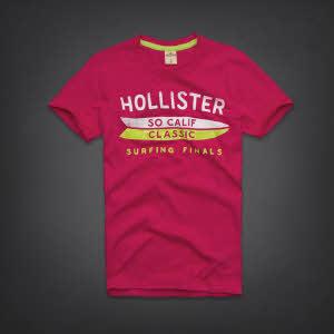 Hollister 홀리스터 반팔티 머슬숄스(Mussel Shoals) - 다크핑크
