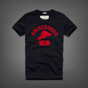 Abercrombie 아베크롬비 남녀공용 반팔 티셔츠 제이레인지(Jay Range) - 네이비